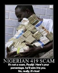 False Inheritance Scam: Nigerian Letter Scam - Davies